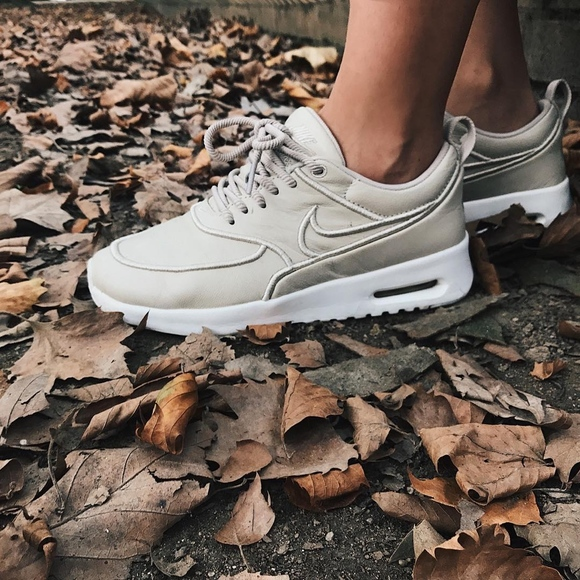 quality design 4a801 83a09 Nike Oatmeal Leather Air Max Thea Ultra Sneakers